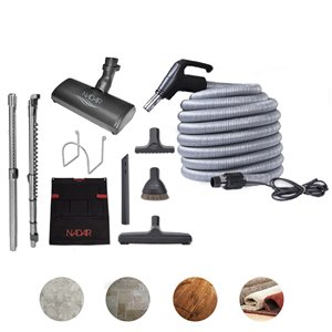 Nadair Central Vacuum Attachment Cleaning Slim Tool Kit - 40 ft.