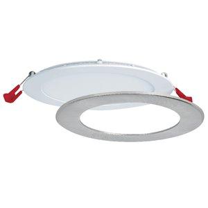 Luminaire encastré à DEL ronde avec 3 températures de couleurs de Nadair, 6 po