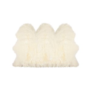 Lifestyle Natural Sheepskin Lifestyle Natural Indoor Handcrafted Area Rug - 3-in x 5-in