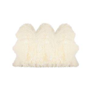 Tapis décoratif intérieur en peau de mouton fait à la main de Lifestyle, 3 po x 5 po, naturel