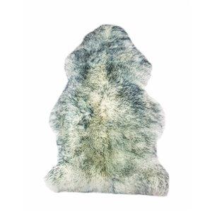 Tapis intérieur en peau de mouton fait à la main Milan Natural de Lifestyle, 2 po x 3 po, brume grise