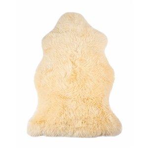 Tapis intérieur en peau de mouton fait à la main Milan Natural de Lifestyle, 2 po x 3 po, crème