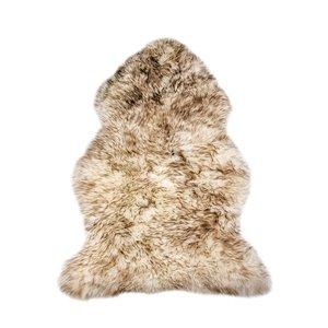 Tapis intérieur en peau de mouton fait à la main Milan Natural de Lifestyle, 2 po x 3 po, lin fonce