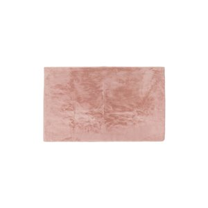 Lifestyle Faux Rabbit Blush Pink Indoor Machine-Made Area Rug - 3-in x 5-in