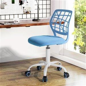 FurnitureR Adjustable Office Chair - Blue