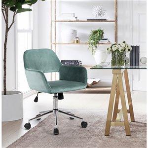 Chaise de bureau réglable moderne de FurnitureR, turquoise