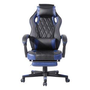 Chaise d'ordinateur ergonomique de FurnitureR, bleu