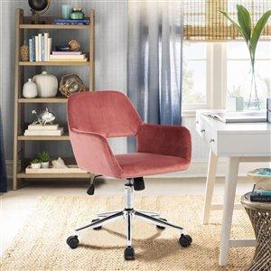 Chaise de bureau réglable moderne de FurnitureR, rose