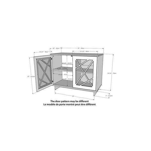 Nexera Paragon 2-Door Contemporary Storage Cabinet - Black