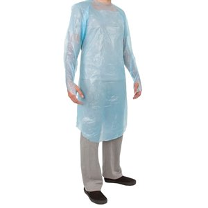 The Big Dollar Disposable Isolation Gowns - CPE - Blue - Large - Pack of 50