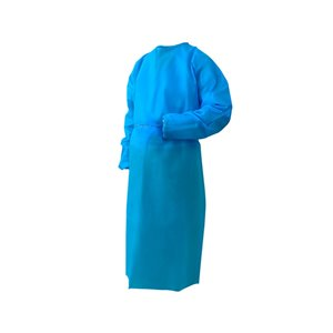 Danameco Disposable Isolation Gowns - Polypropylene - Blue - Standard Size - Pack of 5