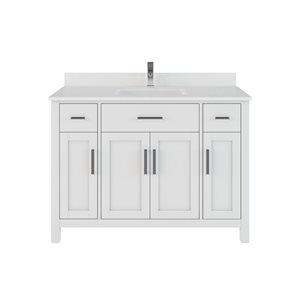 Meuble-lavabo simple Kate de Spa Bathe, 48 po, blanc