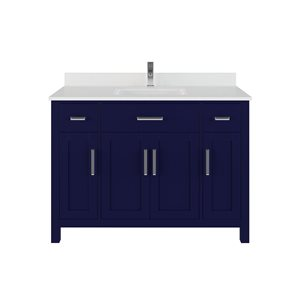 Meuble-lavabo simple Kate de Spa Bathe, 48 po, bleu marin