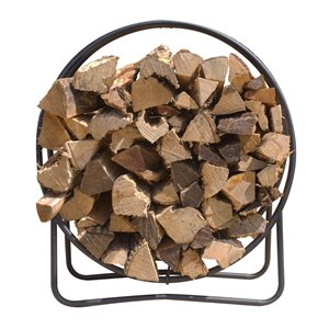 Pleasant Hearth Log Hoop - Steel - 43-in x 40-in - Black