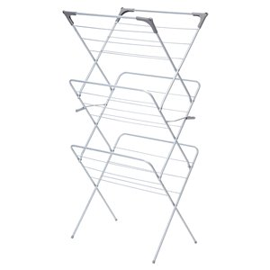 Greenway 3-Tier Collapsible Drying Rack - Silver - 53-in x 20-in