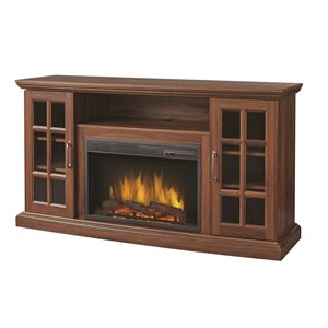 Muskoka Brookfield Media Electric Fireplace - 59-in - Burnished Walnut