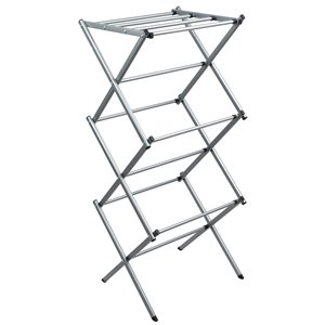 Greenway Expandable Accordion Drying Rack - Silver - 42-in x 18.5-in