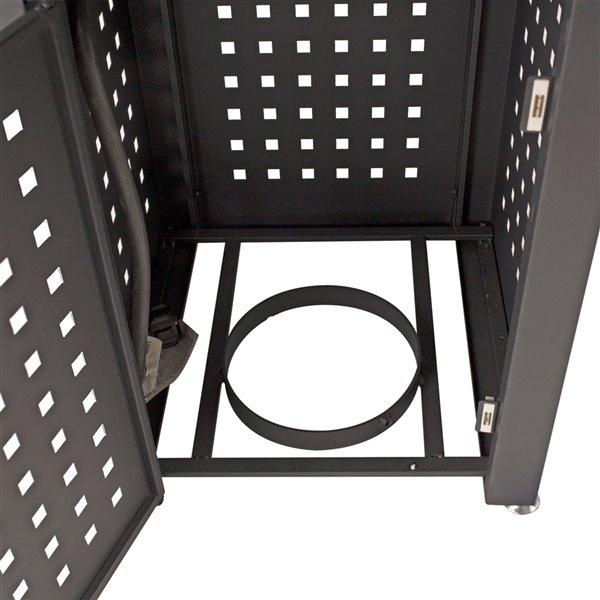 Table de foyer extérieur au gaz Lockwood de Pleasant Hearth, en acier, 26 po x 28 po, noir