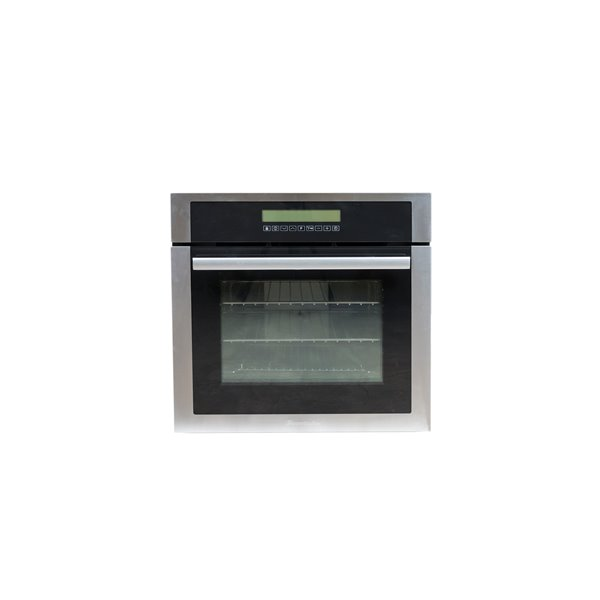 decorelex electric wall oven with 3 elements 24 in stainless steel