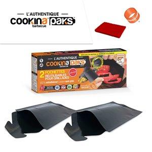 Pochette de grillade réutilisable COOKINA Barbecue PAKS, 20 cm x 30 cm, 2 mcx