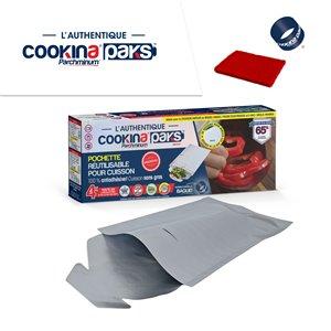 Pochette de cuisson réutilisable COOKINA PAKS Parchminum, 20 cm x 30 cm