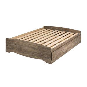 Base de lit matelot à 6 tiroirs pour grand lit Queen's Mate de Prepac, gris