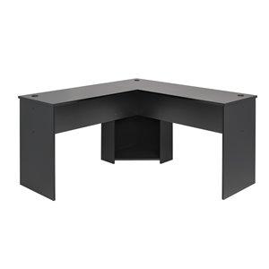 Prepac L-shaped Office Desk - 56-in - Black