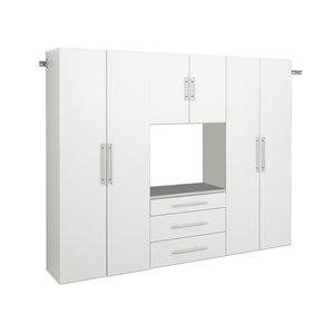 Armoire accrochable HangUps à 4pièces de Prepac, 90po, blanc
