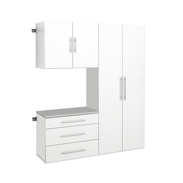 Prepac Hangups 3 Piece Storage Cabinet Set 60 In White Wrgw 0702 3m Rona