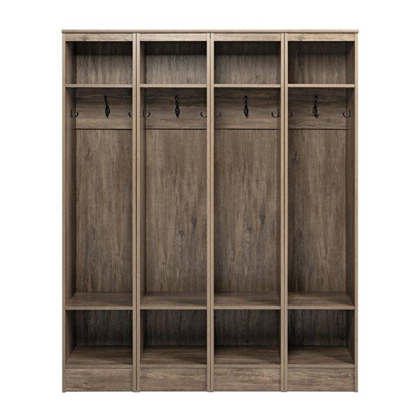 Prepac Narrow Entryway Organizer - Set of 4 - Drifted Gray