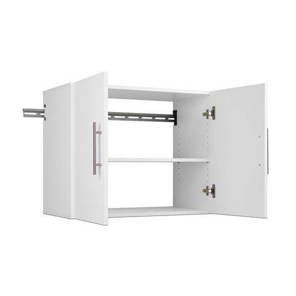 Armoire accrochable HangUps à 4pièces de Prepac, 60po, blanc