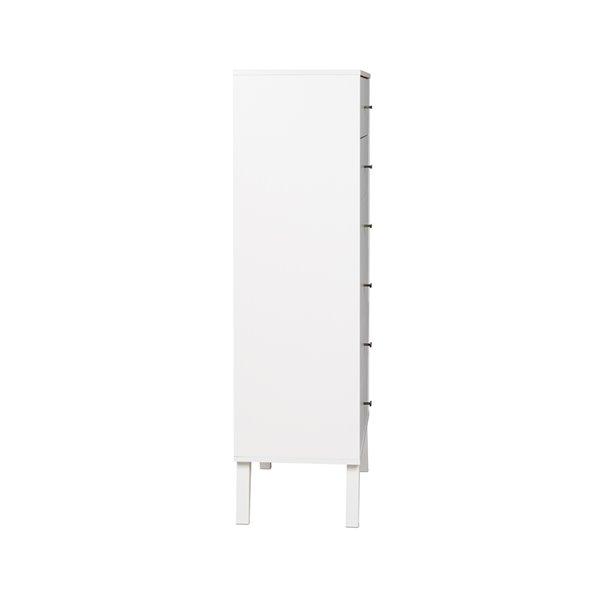 Prepac Milo Tall 6-Drawer Chest - White