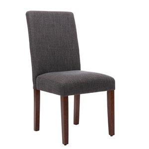 Chaise de salle à manger Soho Harrison, gris foncé, ens. de 2