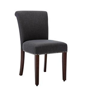 Chaise de salle à manger Soho Birkin, gris foncé, ens. de 2