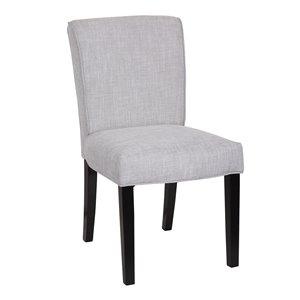Chaise de salle à manger Soho Jasmine, gris pâle, ens. de 2