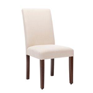 Chaise de salle à manger Soho Harrison en lin beige, ens. de 2