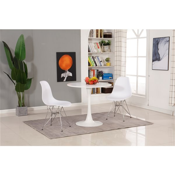 Soho Home Round Bistro Table - White - 31.5-in