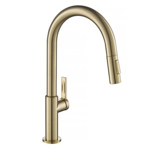 Kraus Oletto Single Handle Pull-Down Faucet - Antique Champagne Bronze