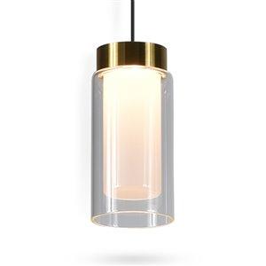 Luminaire suspendu Genoa de VONN Lighting à lumière DEL, 5 po, noir