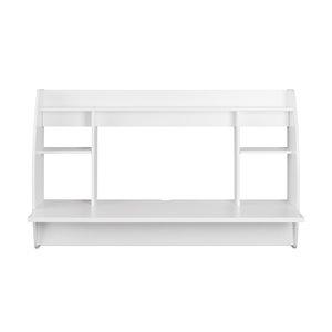 Bureau en porte-à-faux large Prepac de style moderne, stratifié, blanc