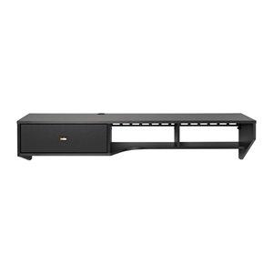 Bureau en porte-à-faux moderne avec tiroir de Prepac, stratifié, noir