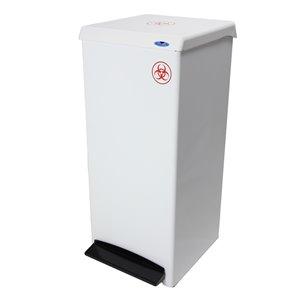 Contenant pour objets contaminés 305 Frost, résidentiel/commercial, 95,1 L, acier blanc
