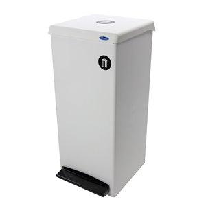 Poubelle 305 Frost, résidentiel/commercial, 95,1 L, acier blanc