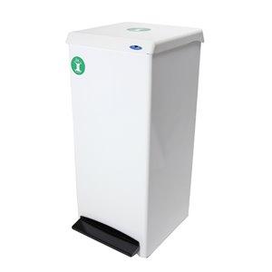 Récipient de compost 305 Frost, résidentiel/commercial, 95,1 L, acier blanc