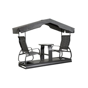 Sojag Eco 2-seater Garden Swing - Dark Grey