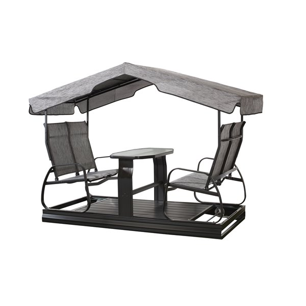 Sojag Eco 4-seater Garden Swing - Dark Grey
