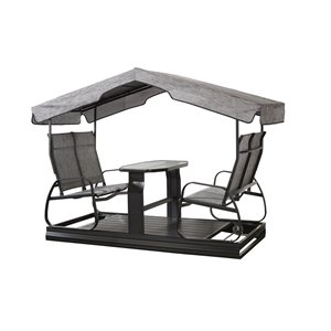 Sojag Eco 4-seater Garden Swing - Dark Grey