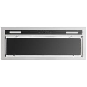 Hotte de cuisine sous-armoire Florida d'AVG, 600 PCM, 30 po, acier inoxydable et verre noir