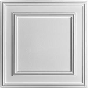 Tuiles de plafond suspendu Ceilume Cambridge, 24 po x 24 po, blanc, paquet de 20