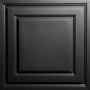 Tuiles de plafond suspendu Ceilume Stratford Feather-Light, 24 po x 24 po, noir, paquet de 40